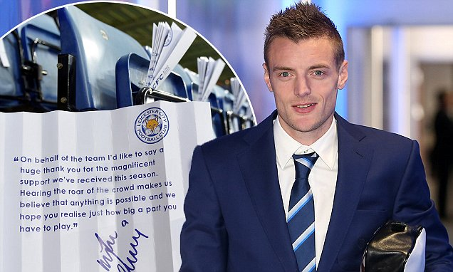 LEICESTER, ENGLAND - DECEMBER 14:  Jamie Vardy arrives during the Barclays Premier League match between Leicester City and Chelsea at the King Power Stadium on December 14th , 2015 in Leicester, United Kingdom.  (Photo by Plumb Images/Leicester City FC via Getty Images)