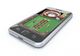 Roulette table in the mobile phone