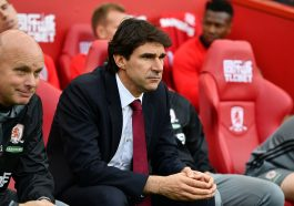 MIDDLESBROUGH, ENGLAND - SEPTEMBER 24:  Aitor Karanka manager of Middlesbrough and assistant Steve Agnew look on prior to the Premier League match between Middlesbrough and Tottenham Hotspur at the Riverside Stadium on September 24, 2016 in Middlesbrough, England.  (Photo by Dan Mullan/Getty Images)