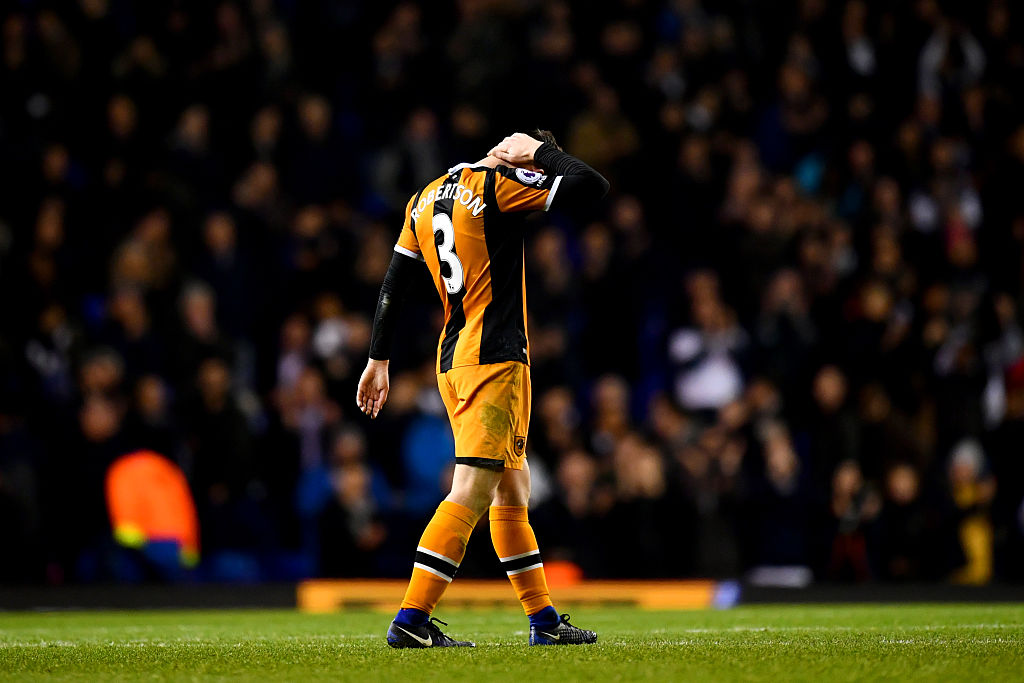 during the Premier League match between Tottenham Hotspur and Hull City at White Hart Lane on December 14, 2016 in London, England.